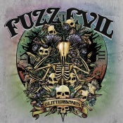 "Image of Fuzz Evil/Chiefs 7"" split bone splatter vinyl"