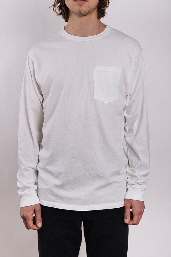 Image of Costae Longsleeve Pocket tee (Raw White)