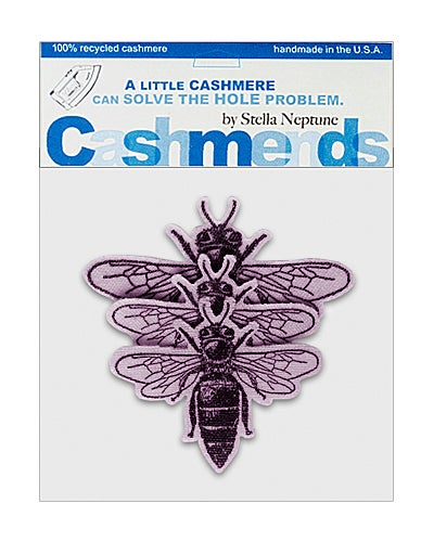 Image of Iron-On Cashmere Bees - Lavender