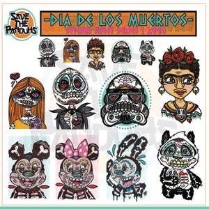 Image of Dia De Los Muertos Sticker Sheet Series 1.