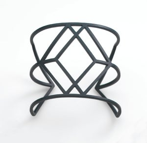 Image of Dark Grey Cube Cuff