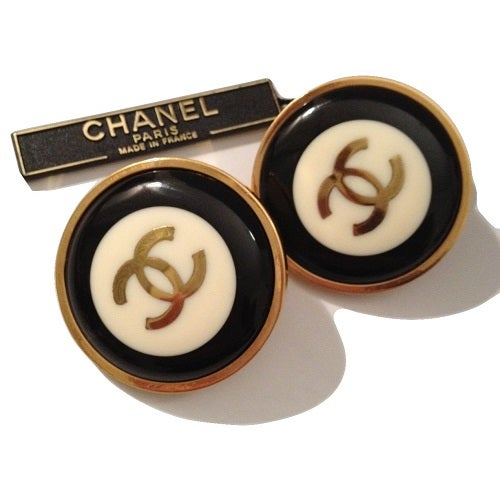 Image of SOLD OUT Chanel Earrings - 1993 Authentic Jumbo Size Earrings new in Box on SUPER SALE