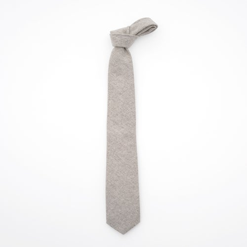 Image of lunar highlands / beige wool tie