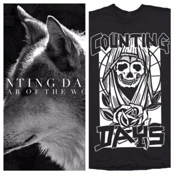 "Image of Counting Days - The War Of The Wolf 12"" / Shirt Bundle"