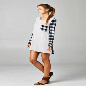 Image of Back to Plaid Tunic Dress