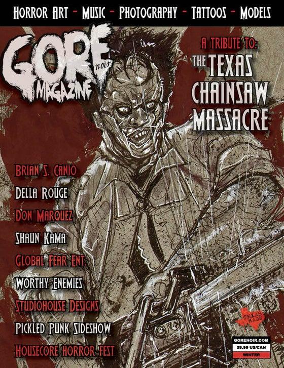 Image of Gore Noir Magazine Issue #12 Texas Chainsaw Massacre!