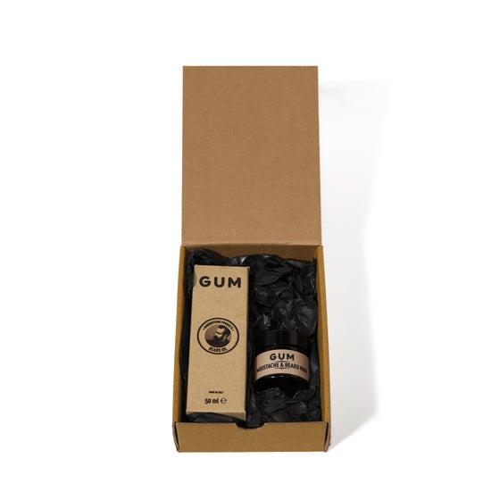Image of GUM GIFT BOX (BEARD OIL & MOUSTACHE WAX)
