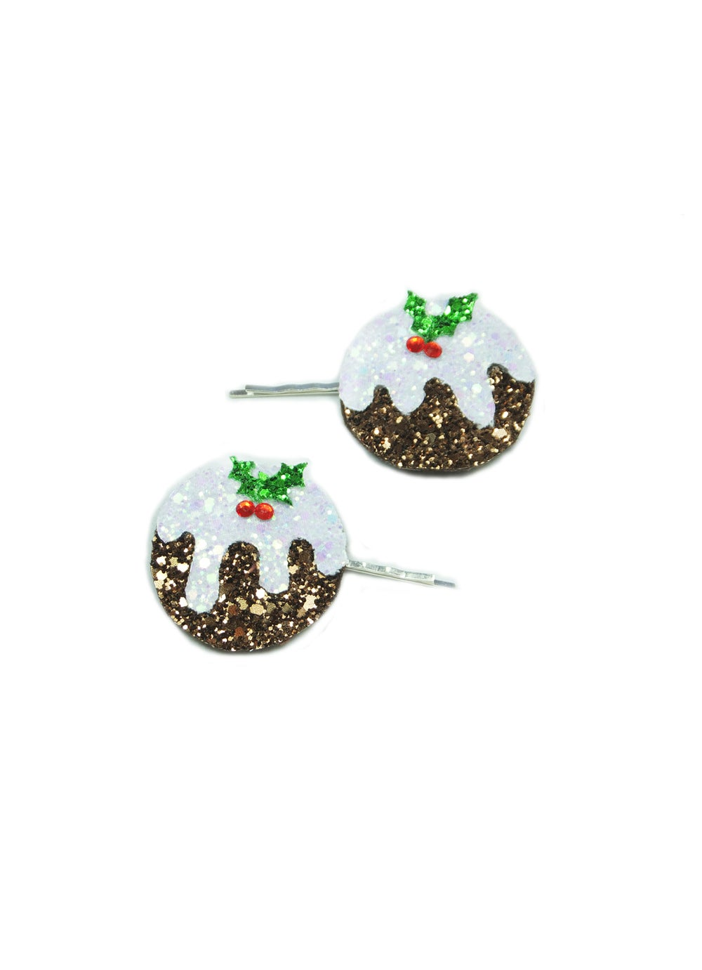 Image of Diamante Christmas Pudding Bobby Pins