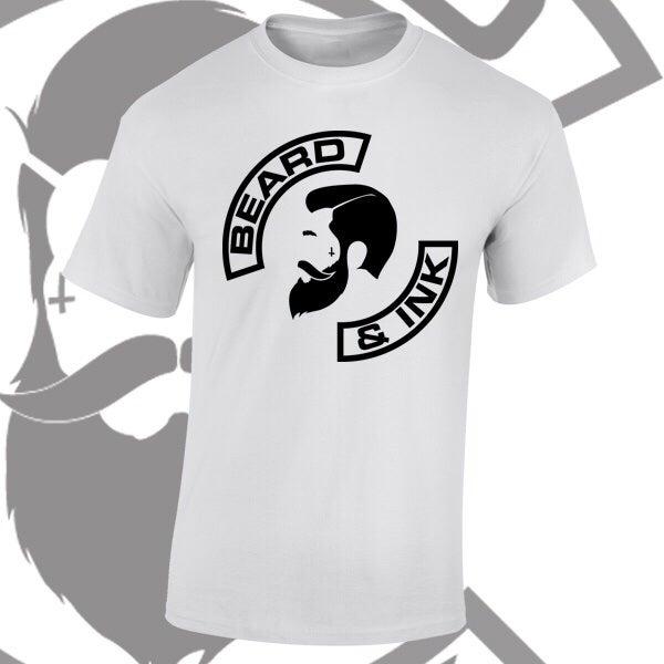 Image of Beard & Ink Side Logo Tee.