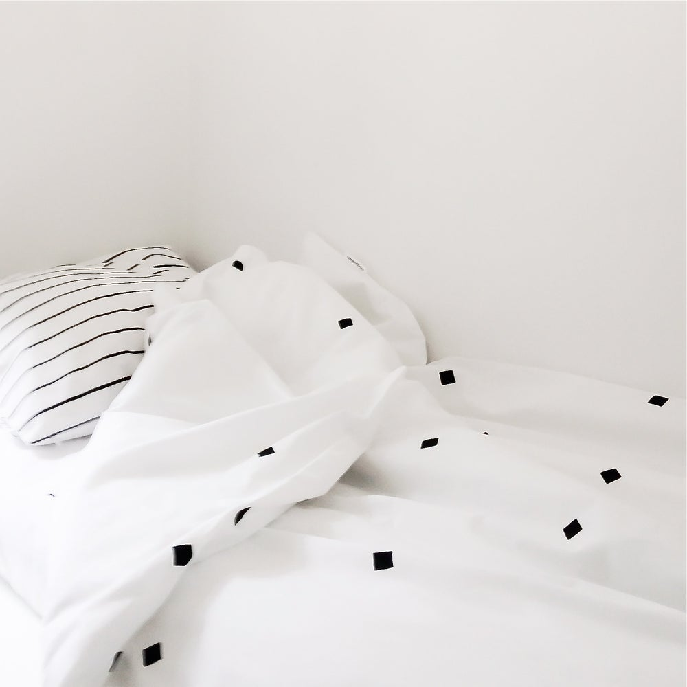 Image of confetti duvet cover + pillowcase