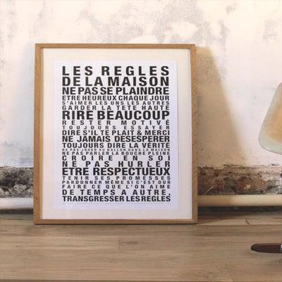 Affiche les regles de la maison la cabane eug ne - Poster les regles de la maison ...