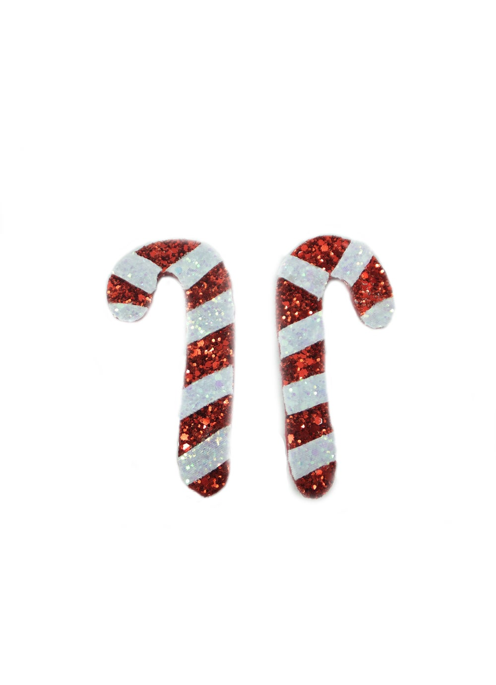 Image of Candy Cane Hair Clips - Pair