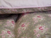 Image of Pretty Soft Grey and Candy Stripe Single Eiderdown