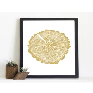 Image of Giclee Stump Print <br><i>Spring Hollow GOLD</i>