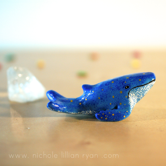 Image of Clay Whale Totem Figurine