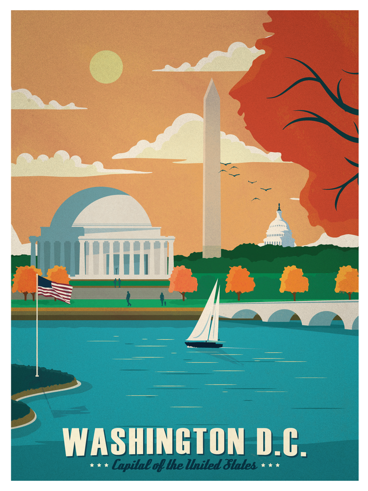 Image of Vintage Washington DC Print