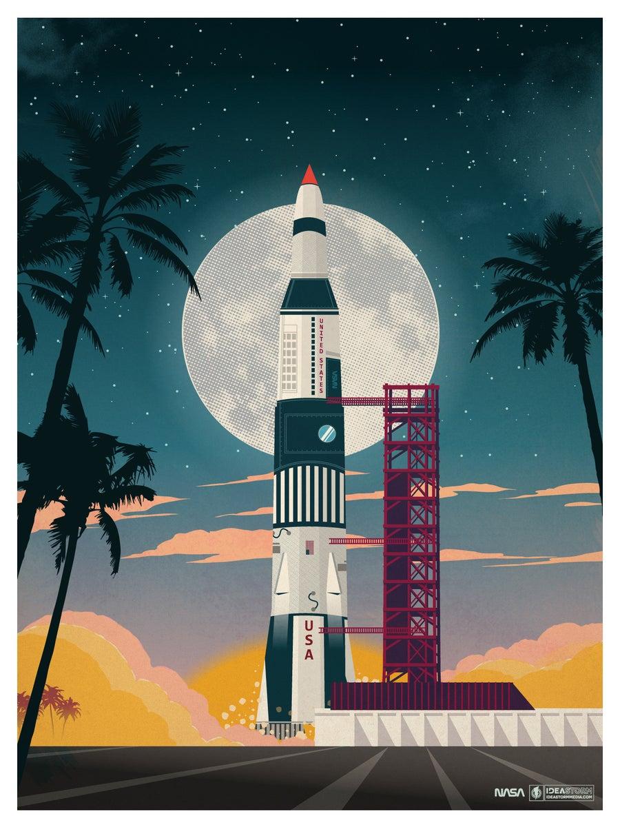 World Wide Auto >> IdeaStorm Studio Store — Vintage Cape Canaveral Print