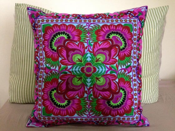 "Image of handmade, ethical products ""Kaleidoscope"" cushion cover"