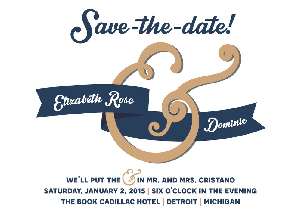 Image of Ampersand Save-the-Date card