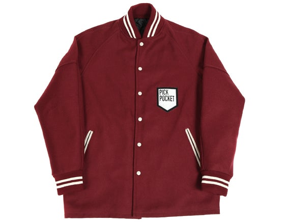Image of Blouson Varsity/Caban bordeaux