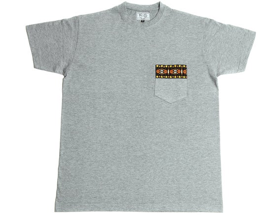 Image of Tshirt Ruban Aztec marron
