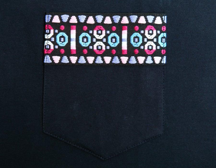 Image of Tshirt Ruban Aztec violet