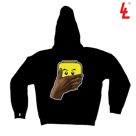 Image of Hand Over Mouth LEGOMAN Hoody