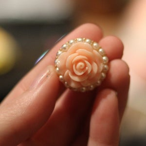 Image of Peach Rose Pearl Plugs (sizes 00g-3/4)