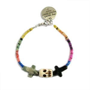Image of Crossed Lover Bracelet (Rainbow 5.0)