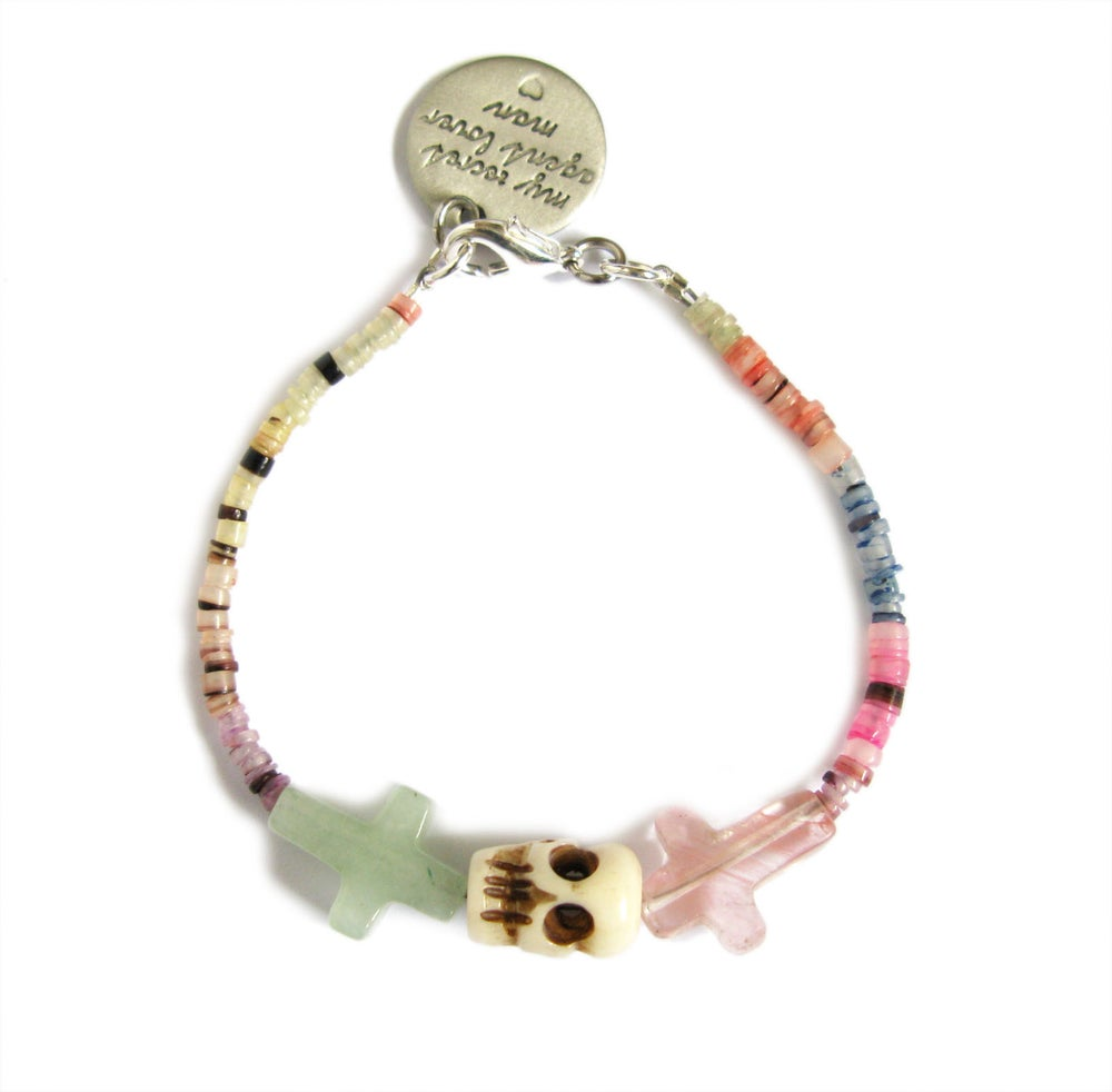 Image of Crossed Lover Bracelet (Rainbow 7.0)