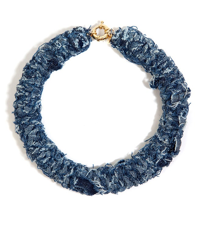 Image of REworked Dark Denim Thick Neckpiece