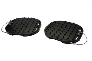 Image of white wave traction pads
