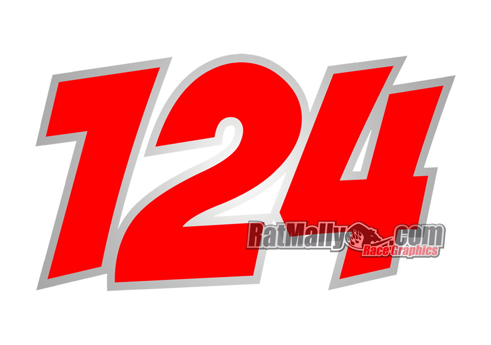 Image of POW Race numbers x3
