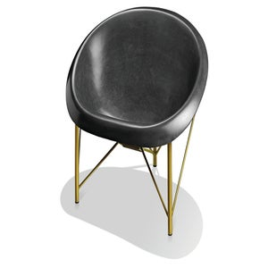 Image of Helios Love Chair - Charcoal