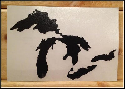 Image of Great Lakes Proud Sticker Black