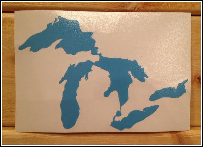 Image of Great Lakes Proud Sticker Light Blue