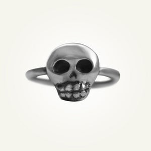 Image of Mini Skully Ring, Oxidized Sterling Silver