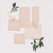 Image of Kraft and White Invitation and Stationery Set