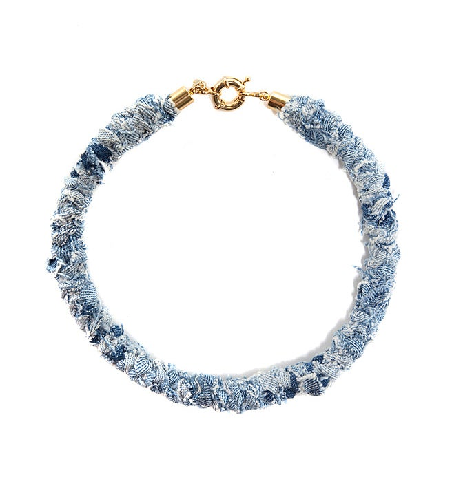 Image of REworked Pale Denim Thin Necklace