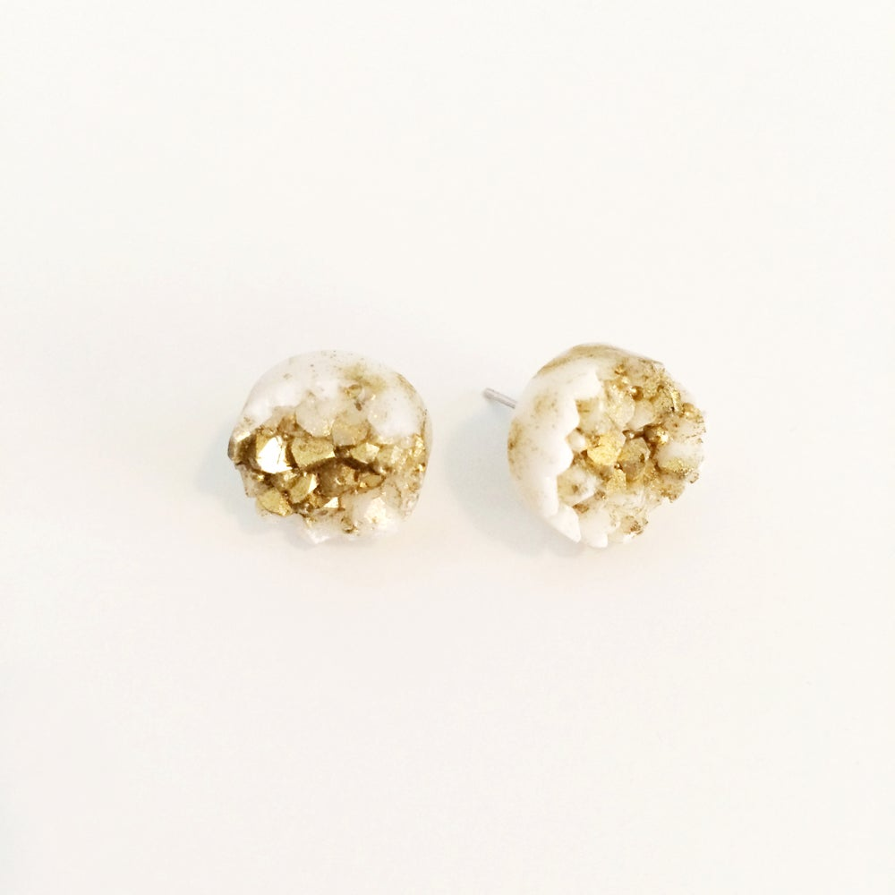 Image of Resin Quartz Earrings
