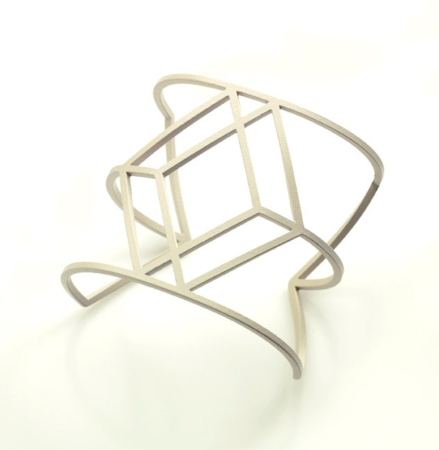 Image of Off White Cube Cuff