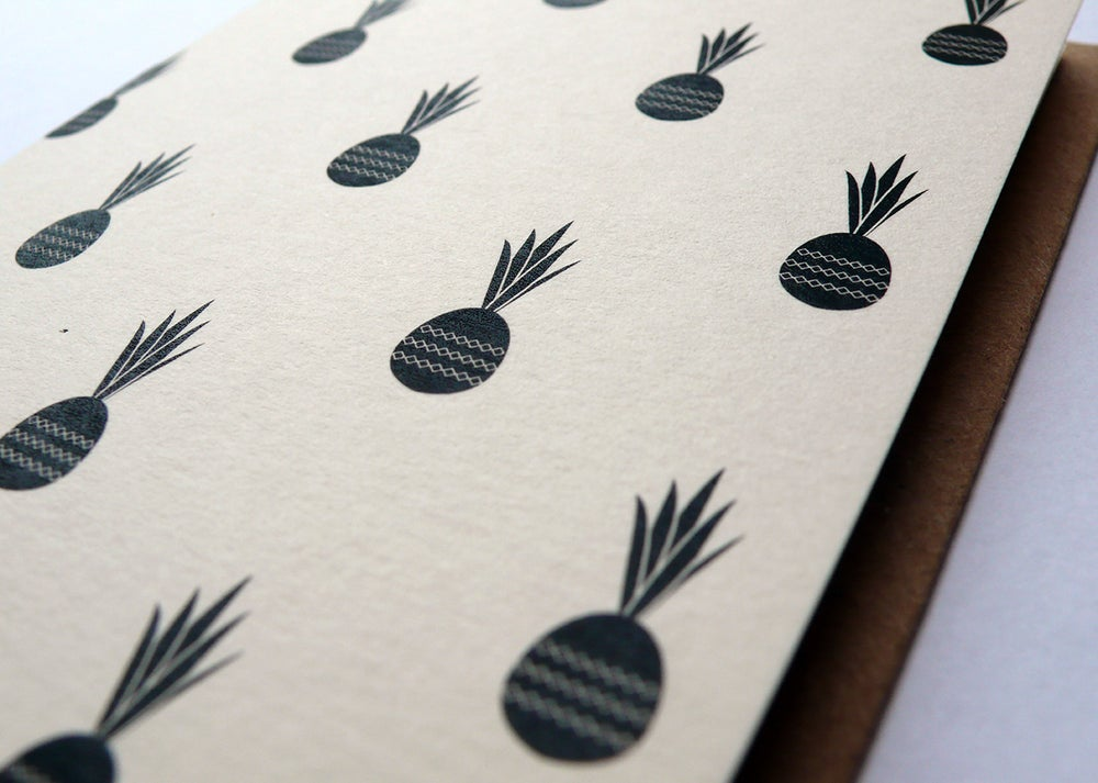 Image of Pineapples Greetings Card (A7 size, blank inside)
