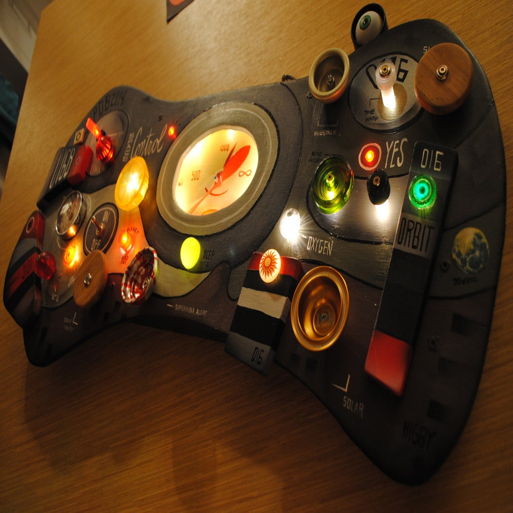 Outdoor Wall Light Rectangle : Kids Outer Space CONTROL Panel L.E.D. Lights Spinning Knobs 14x26 Hand Made by John Higby ...