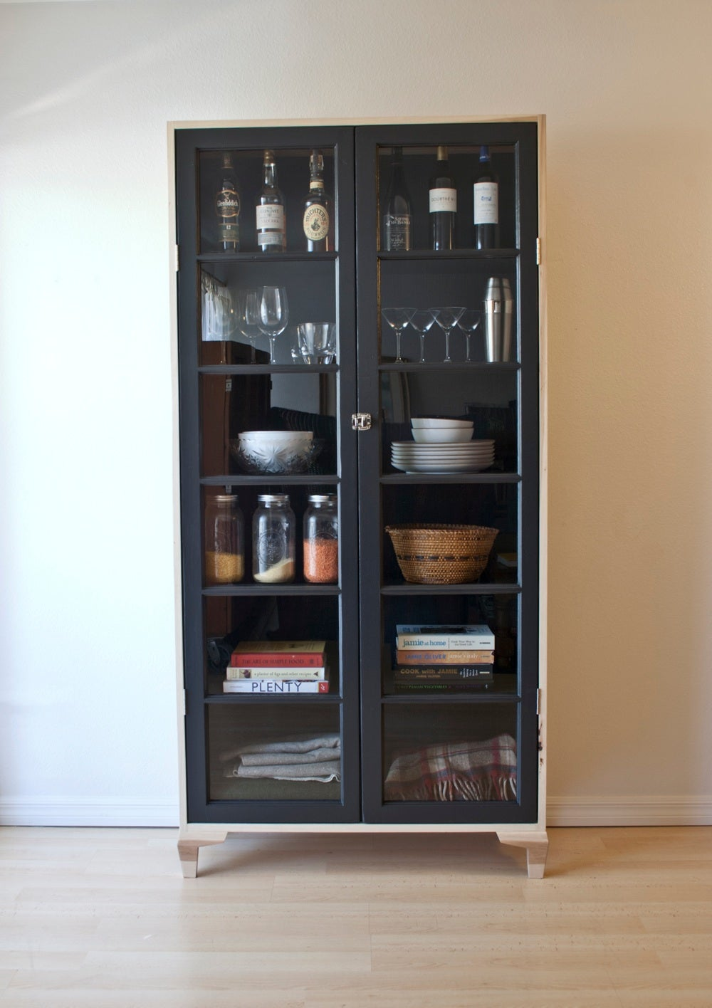 ... Image Of Salvaged French Door Pantry Cabinet ...