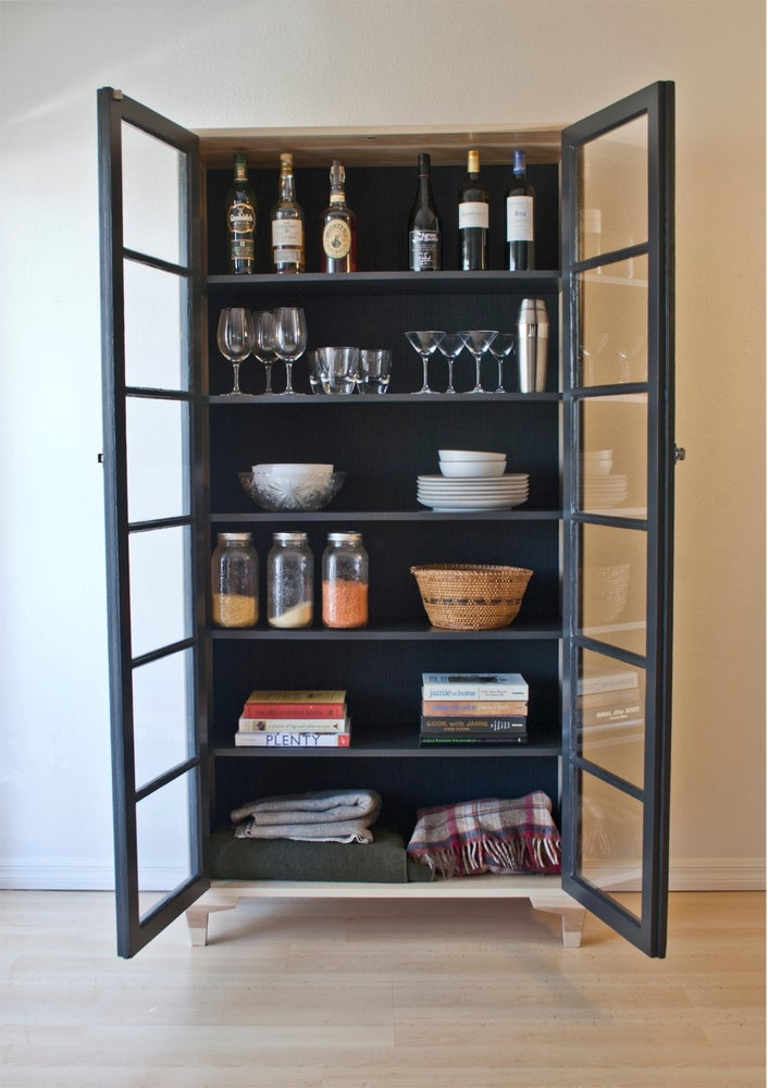 Salvaged French Door Pantry Cabinet / Dominique Provost