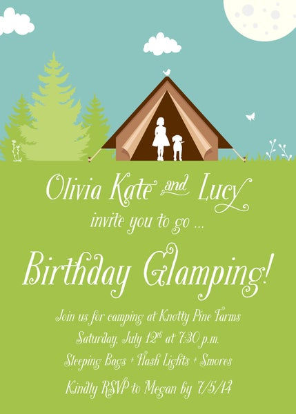 Image of Glamping Invitation