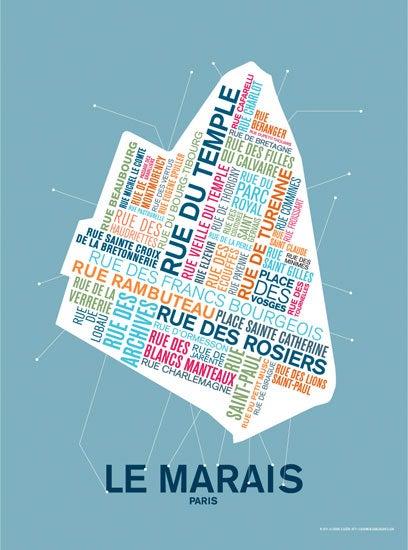 Image of FIN DE SÉRIE // Affiche Le Marais - Paris