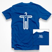Image of Matchless Gift 'Inquire Within' Hemp TShirt (Blue)