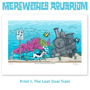 Image of 1. Coal Train - Merewether Aquarium A4 digital print