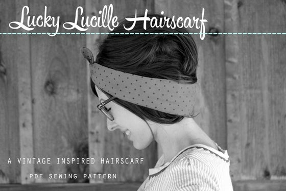 Image of PDF Sewing Pattern - Lucky Lucille Hair Scarf